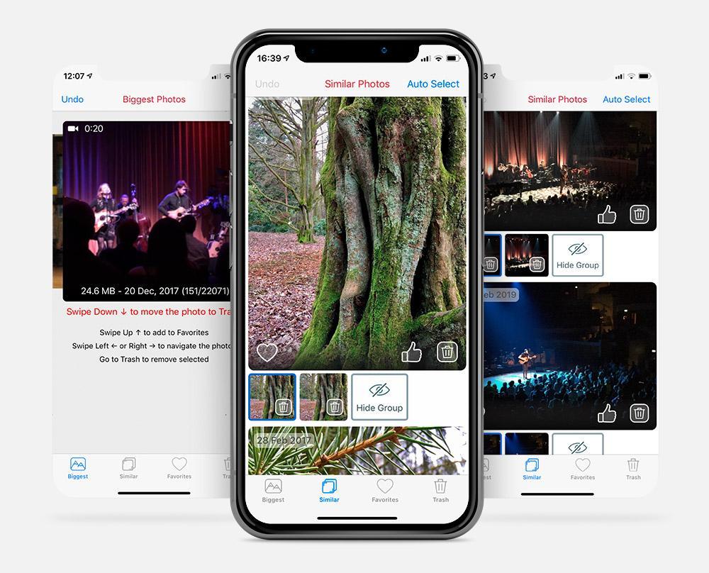 App Phone Cleaner for Media Files voor het wissen van foto's en video op je iPhone