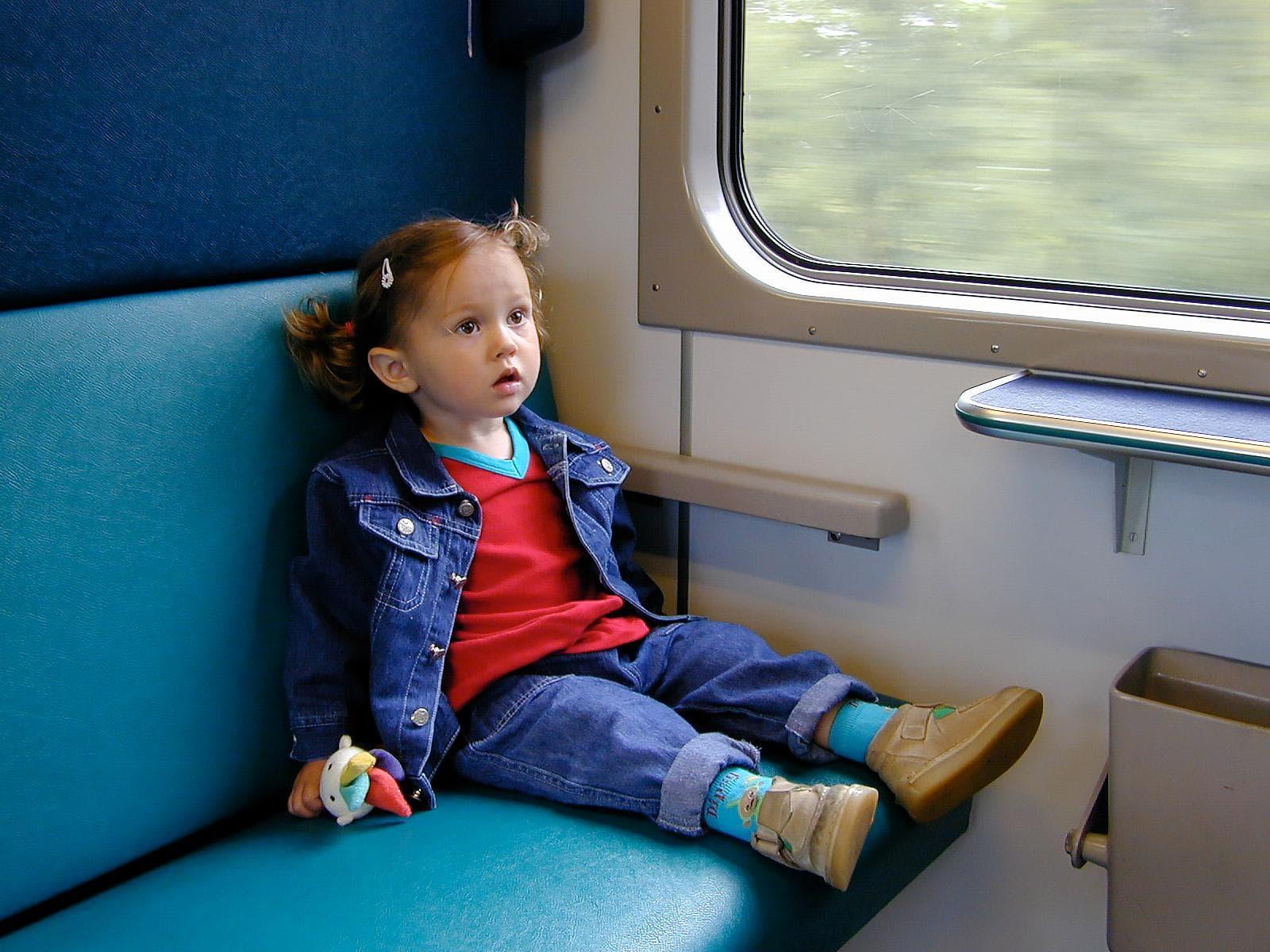 Kinderen fotografen - kind in de trein