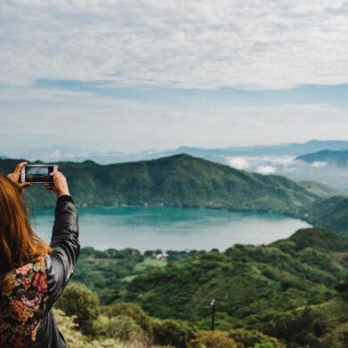 Uitzicht foto met iPhone