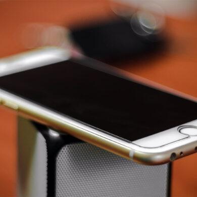 screenprotector op een iPhone 8
