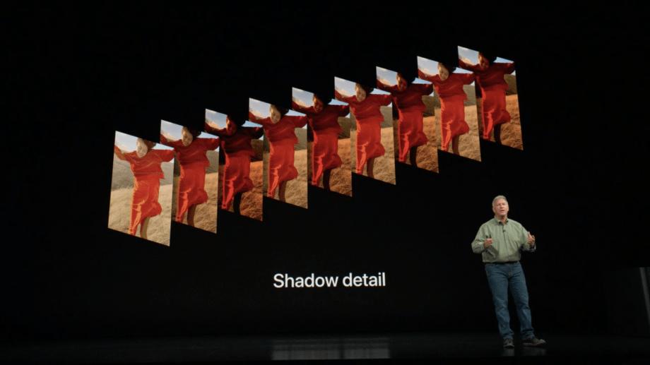 Apples Phil Schiller legt het principe van Smart HDR uit bij de introductie van de iPhone XS.