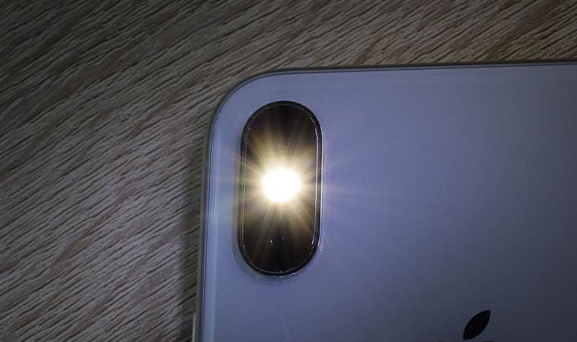 Zaklamp van smartphone