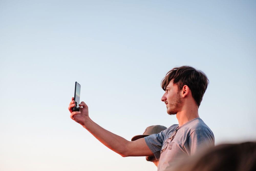 Telefoon in portretmodus: verticaal gebruik