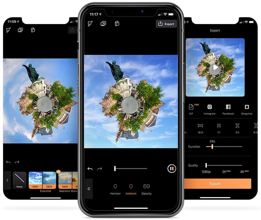 Foto met bewegende lucht maken in Pixaloop
