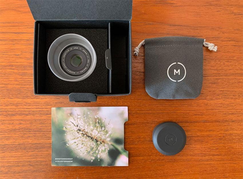 Moment Macro 10x Lens uitpakken