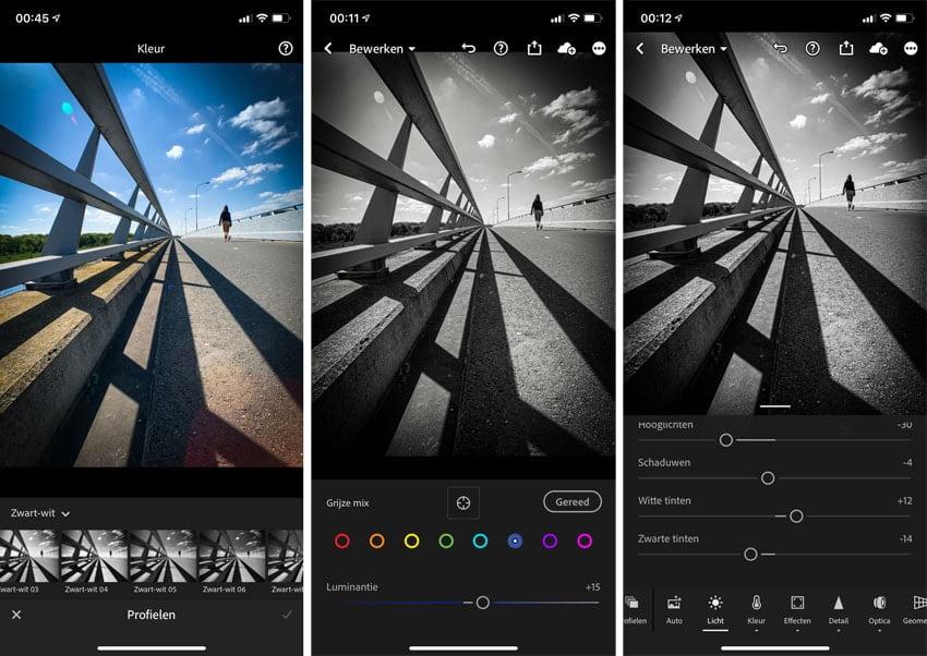 Lightroom is dé app om kleurenfoto's te converteren naar zwart-wit