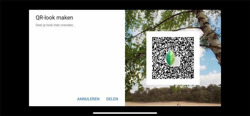 QR-look maken in Snapseed
