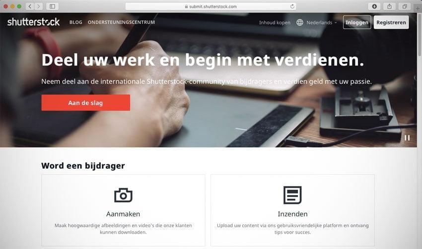 Geld verdienen met fotografie: dat kan met Shutterstock. Alhoewel...