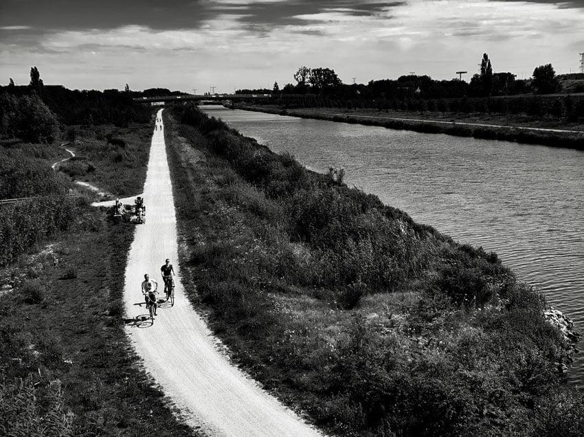 Zwart-wit-fotografie van landschap