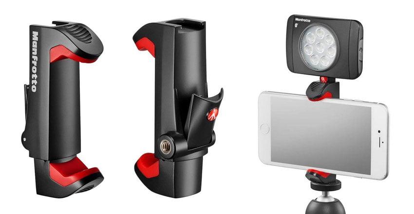 Smartphone-houder met vergrendeling: Manfrotto Pixi Universal Clamp