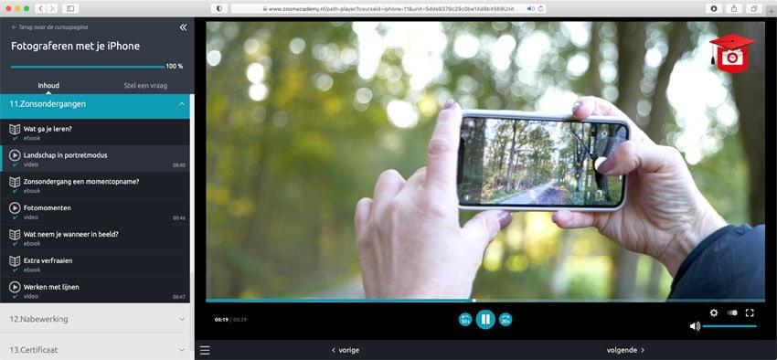 Landschap fotografie in de workshop iPhone-fotografie van Zoom Academy