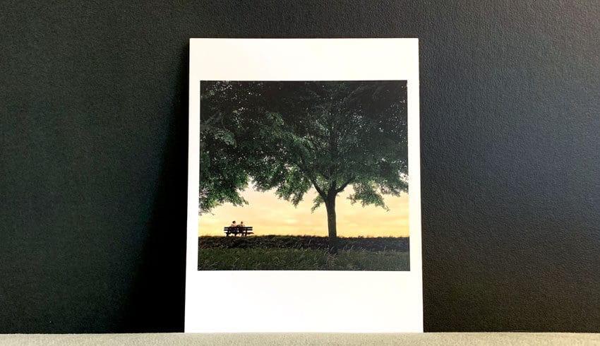 retro foto afdrukken in de vorm van een reprint deluxe
