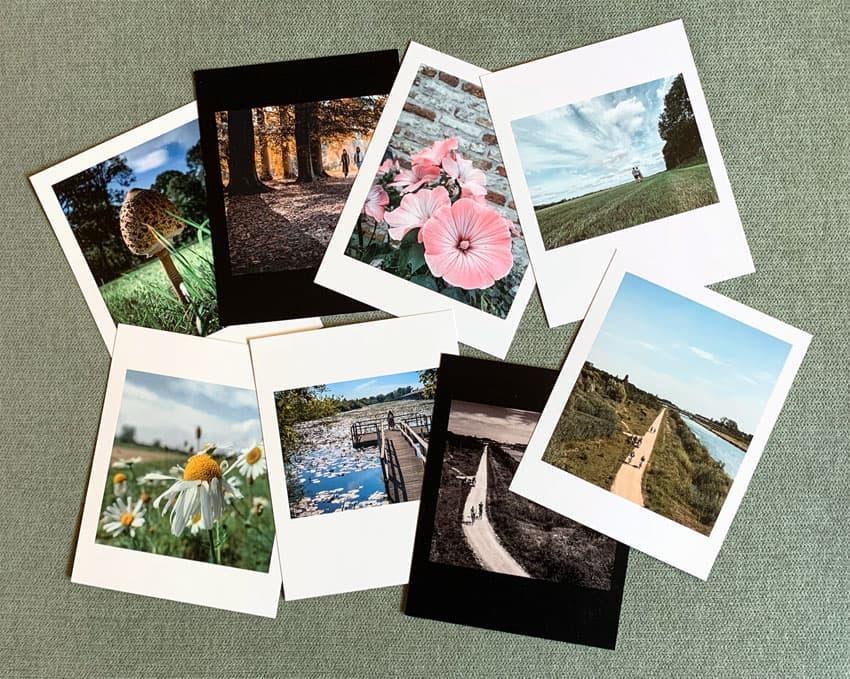 Retro foto's afdrukken - met witte rand