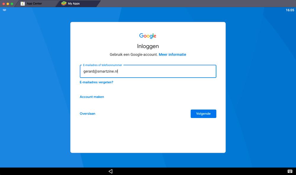Google-account instellen voor BlueStacks zodat je Snapseed voor Windows kunt draaien