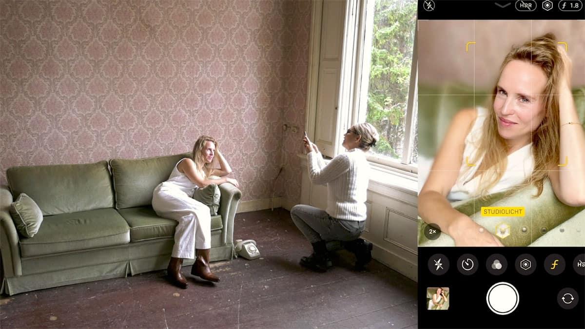 Tanja Jess in actie in de online cursus smartphone-fotografie