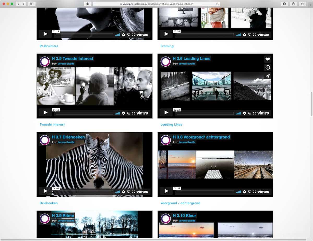 Fotocursus Photo Class voor smartphone fotografie