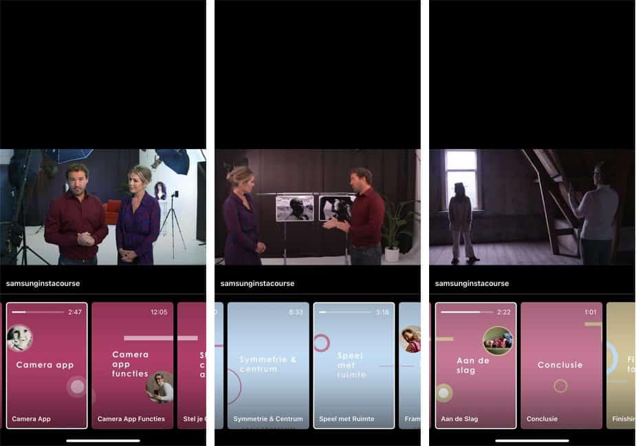 Smartphone voor Mama instagram-Samsung-cursus smartphone-fotografie