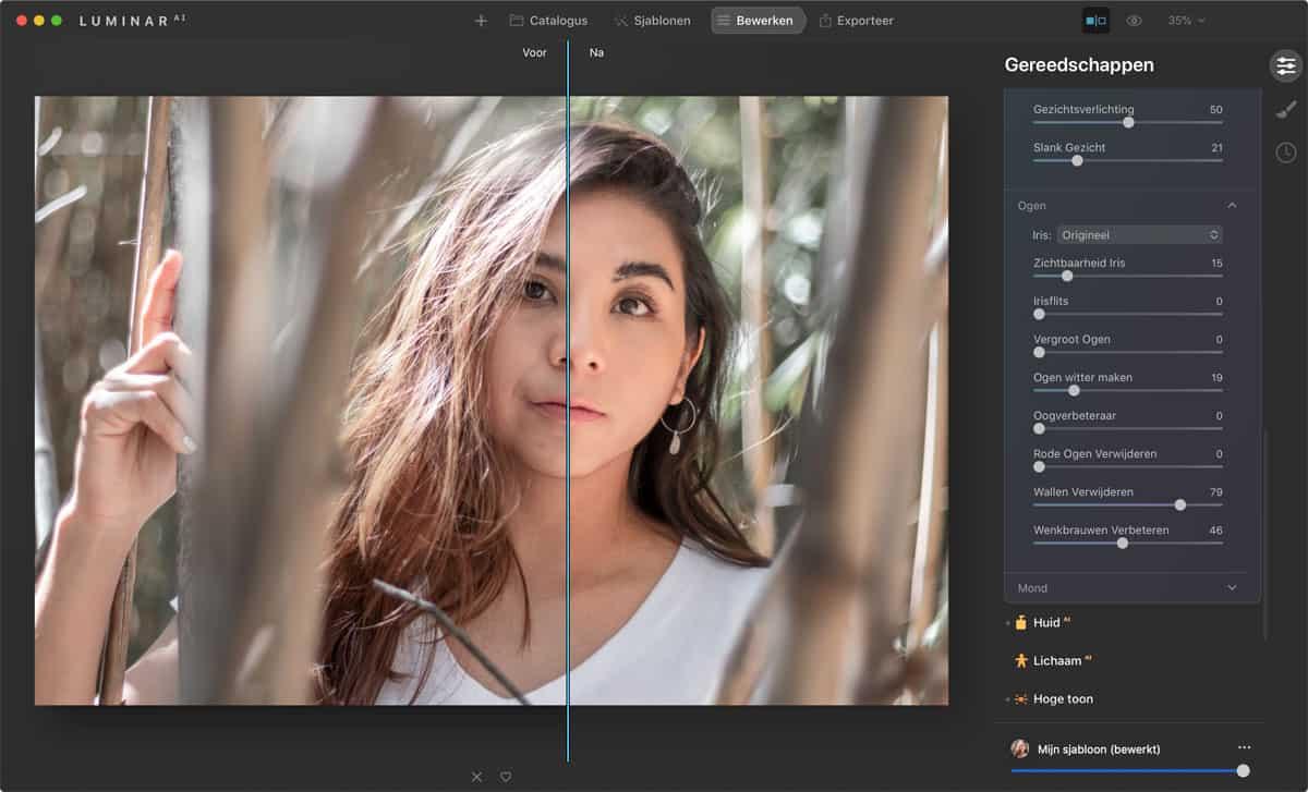 Portretten bewerken in Luminar AI