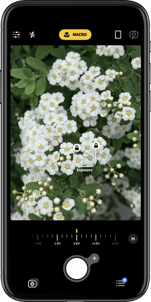 Macrofotografie telefoon: camera+ app met macro