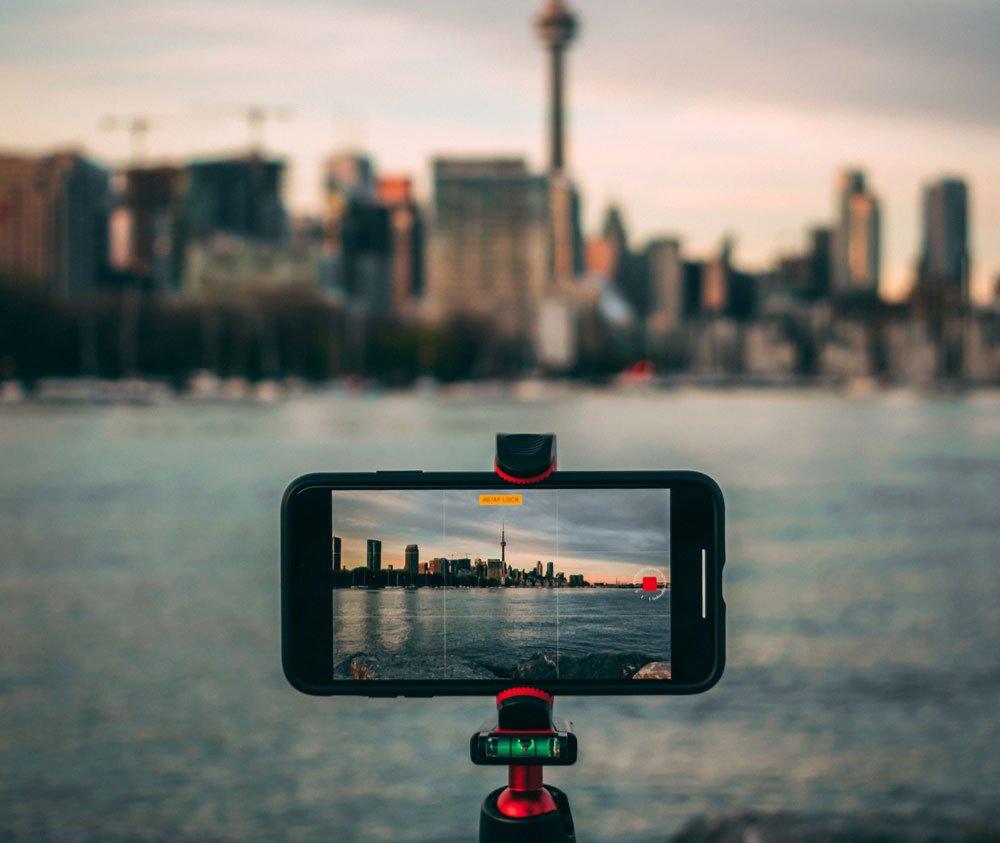Filmen met je iPhone - statieflop met waterpasje