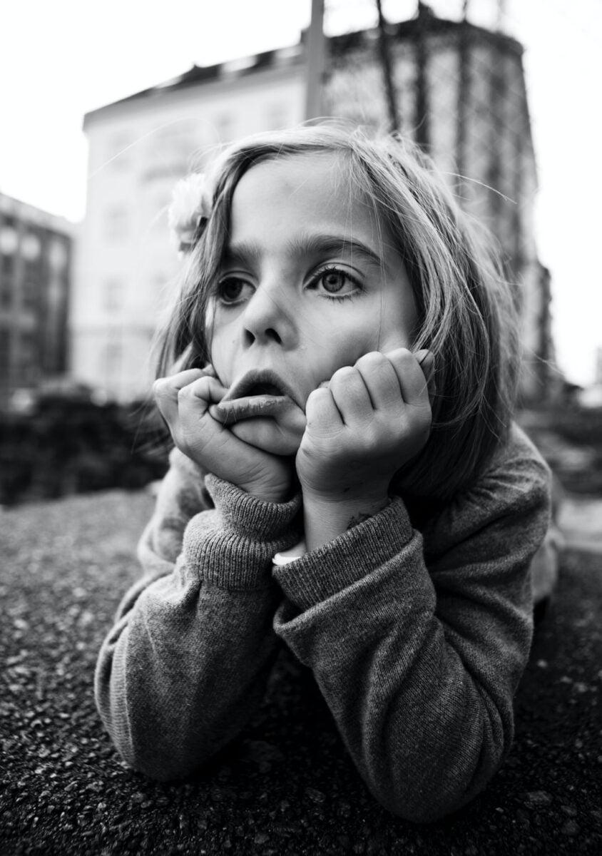 Beweging in een kinderportret
