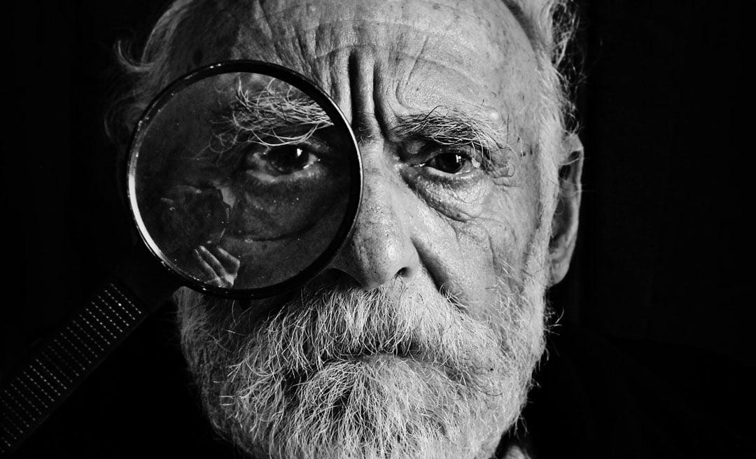 Foto van portret in zwart-wit