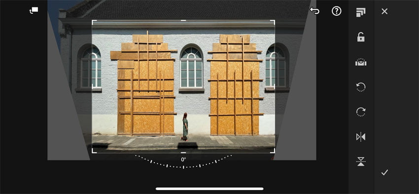 Foto uitsnijden in Lightroom mobile